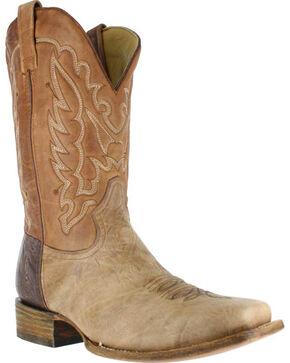 Corral Men's Bull Shoulder Western Boots - Square Toe , Brown, hi-res