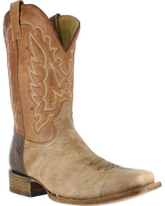 Corral Men's Bull Shoulder Western Boots - Square Toe , Brown, hi-res