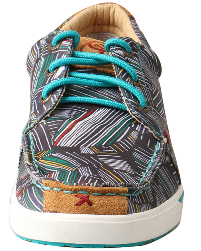 Twisted X Women's Hooey Lopers Shoes - Round Toe, Grey, hi-res