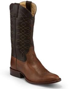 Tony Lama Men's Patron Fossil Western Boots - Round Toe, Tan, hi-res