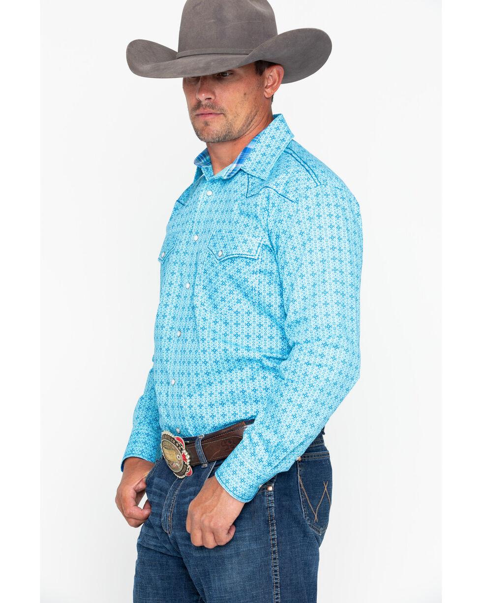 Panhandle Men's Rough Stock Narodini Antique Long Sleeve Western Shirt , Blue, hi-res