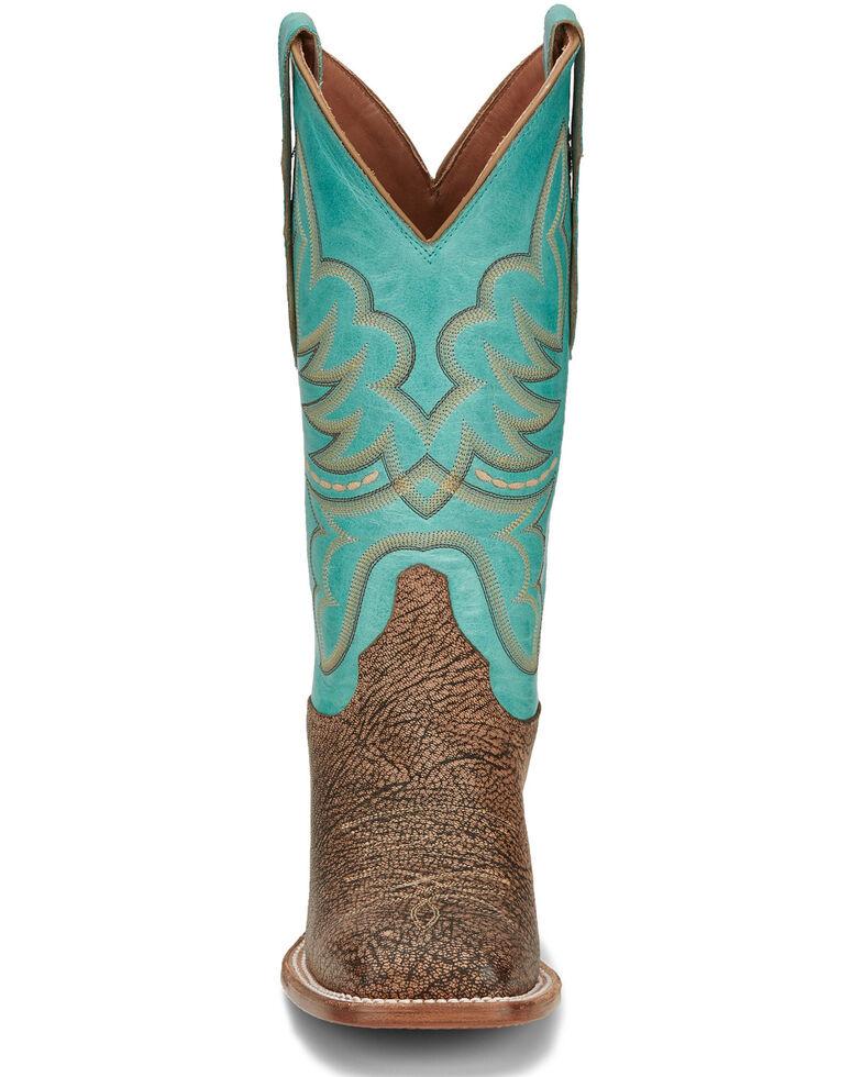 Justin Women's Tan Rumer Goat Western Boots - Square Toe, Tan, hi-res