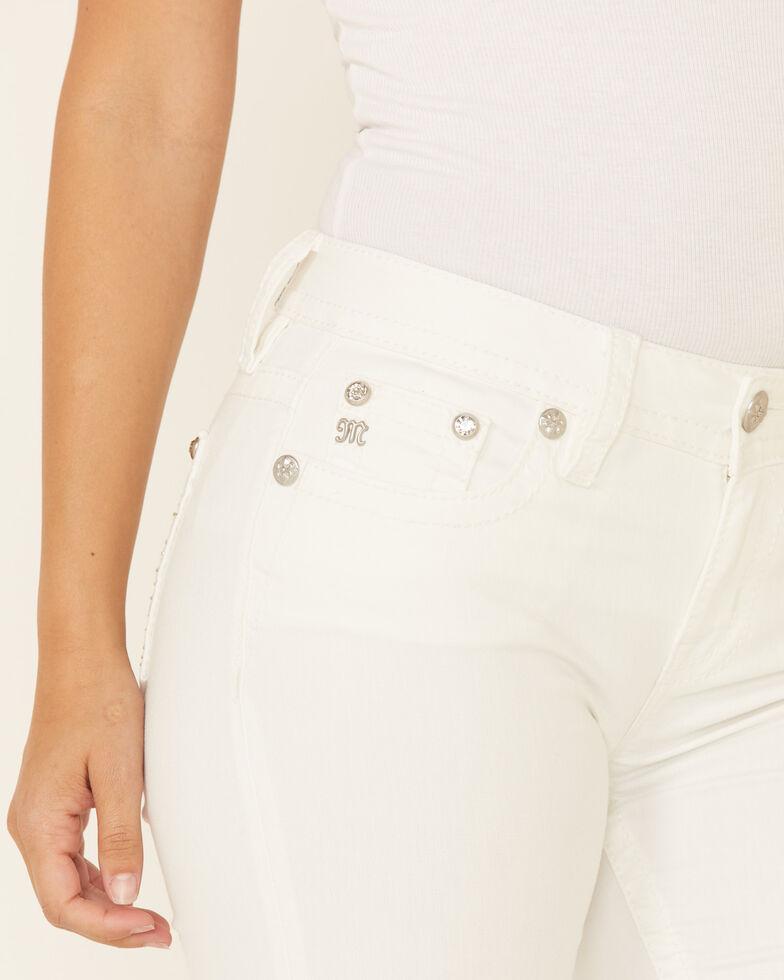 Miss Me Women's Heavenly Garden Bootcut Jeans, White, hi-res