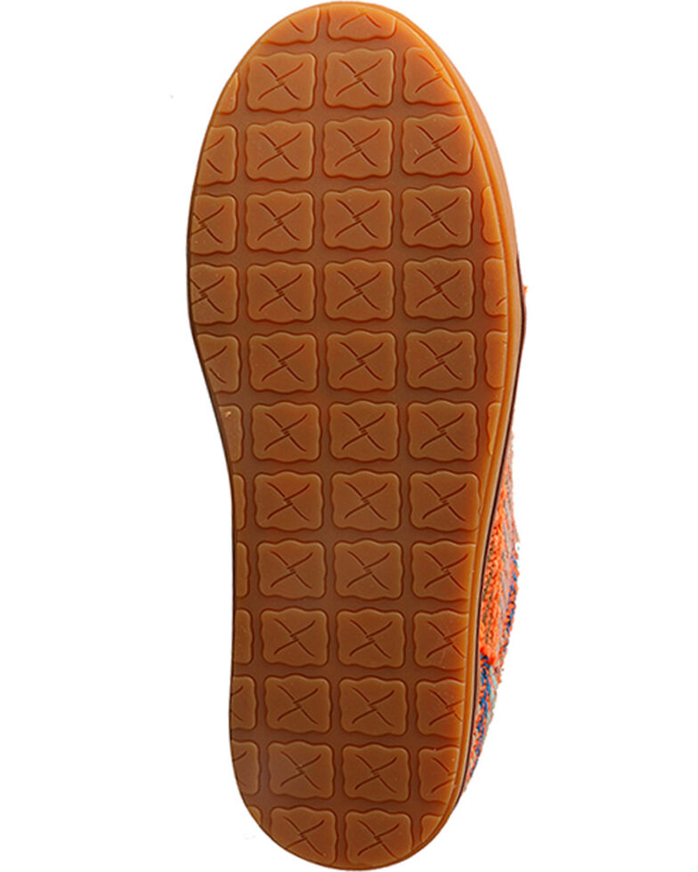Twisted X Youth Girls' Tan Patterned Driving Shoes - Moc Toe , , hi-res