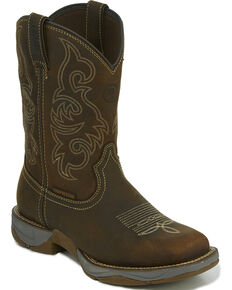 Tony Lama Men's Brown Junction Waterproof Boots - Square Toe , Brown, hi-res