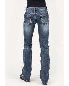Stetson Women's 816 Medium Aztec Bootcut Jeans, Blue, hi-res