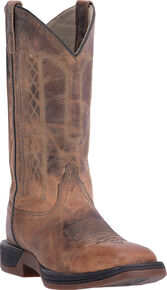 Laredo Men's Tan Bennett Cowboy Boots - Square Toe, Tan, hi-res