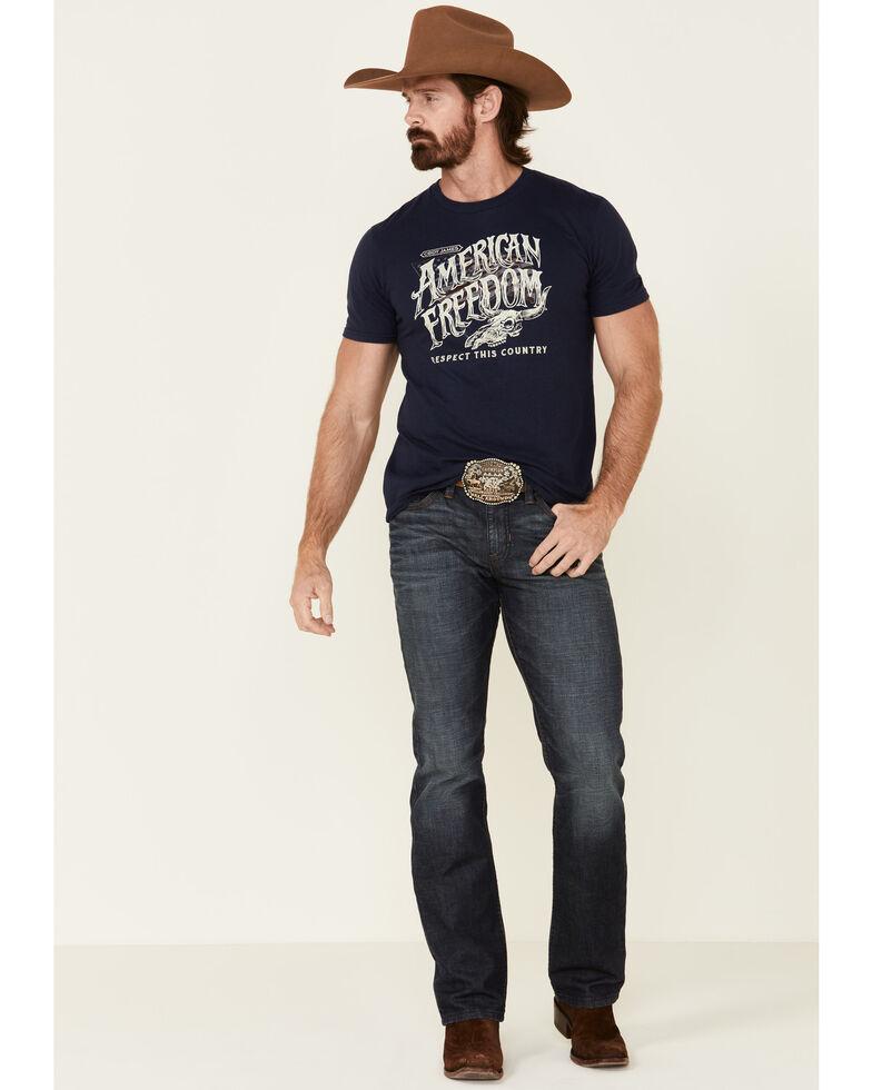 Cody James Men's Freedom Skull Graphic Short Sleeve T-Shirt , Navy, hi-res