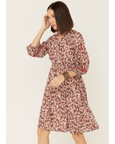 Mikarose Women's Genevieve Dress, Rust Copper, hi-res