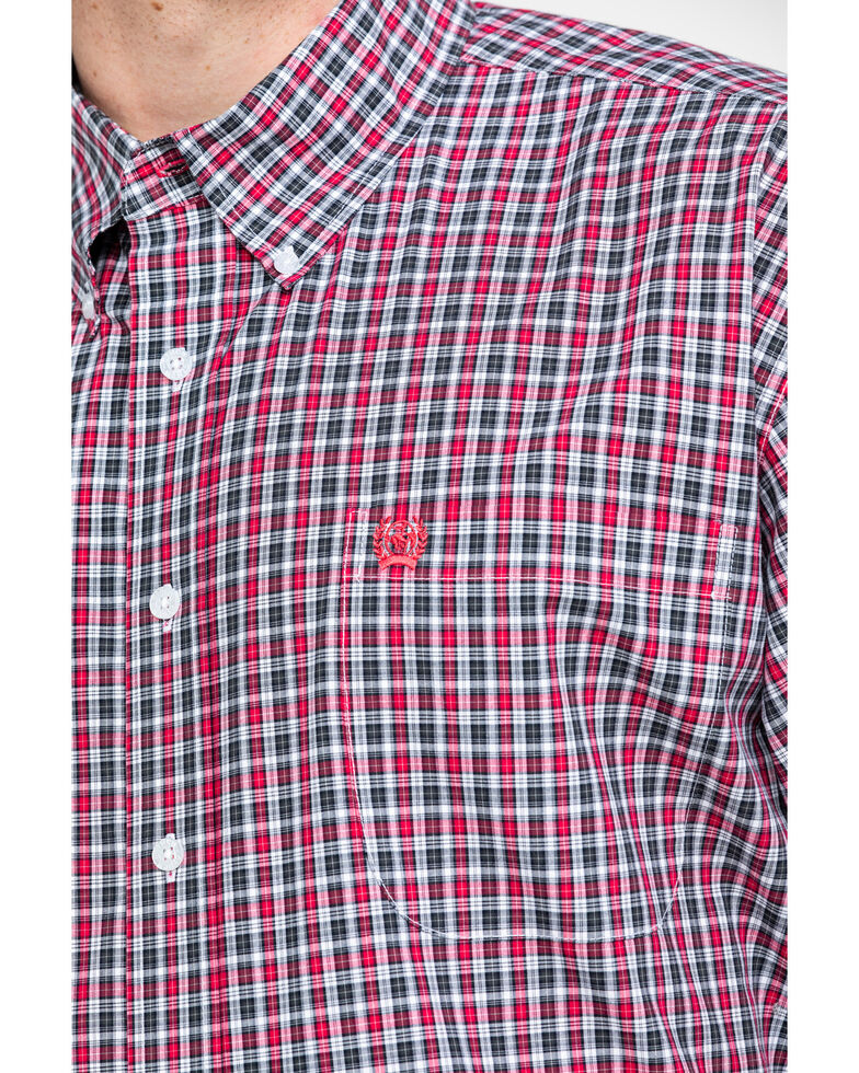 Cinch Men's Multi Large Plaid Button Short Sleeve Western Shirt - Big & Tall , Multi, hi-res