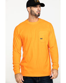 Ariat Men's Orange Rebar Cotton Strong Long Sleeve Work Shirt - Big & Tall , Orange, hi-res