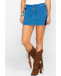 Idyllwind Women's Dakota Denim Skirt , Blue, hi-res