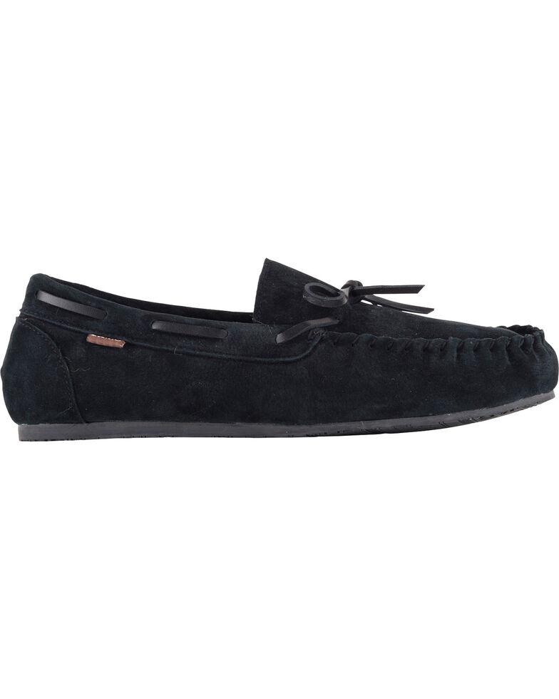 Lamo Men's Aiden Suede Lace Moccasins - Moc Toe, Black, hi-res