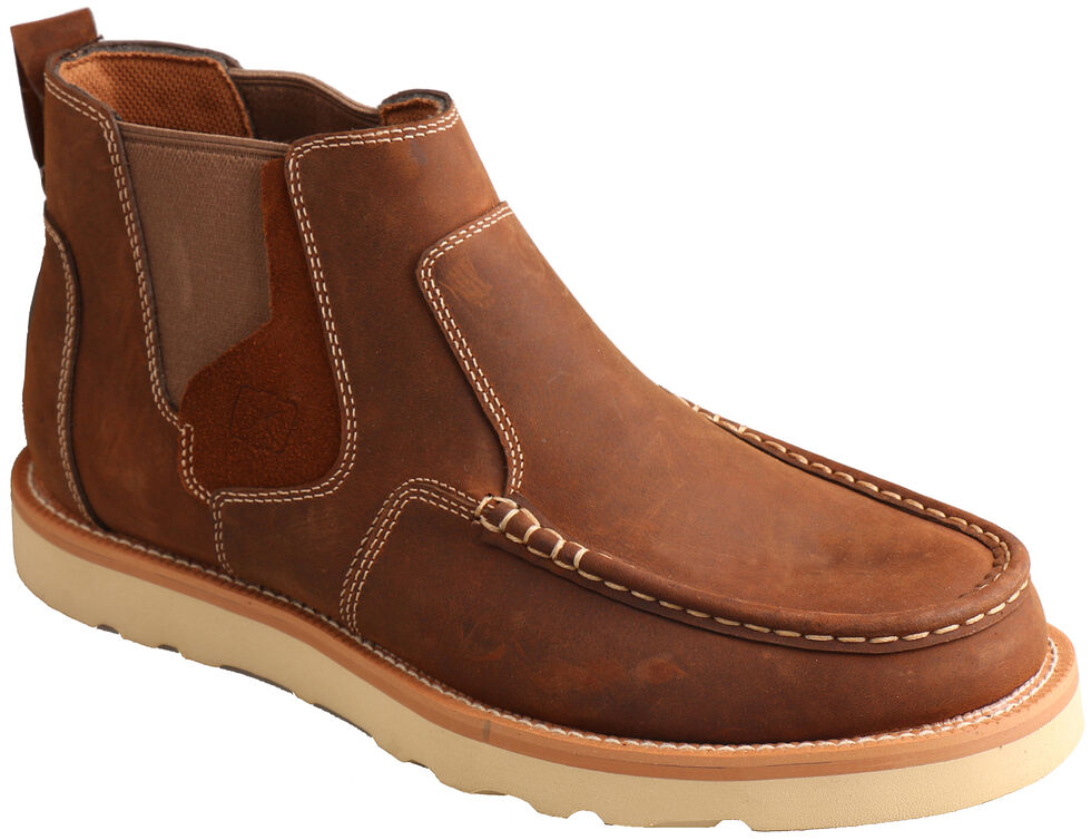 Twisted X Men's Brown Casual Pull-On Shoes - Moc Toe , Brown, hi-res