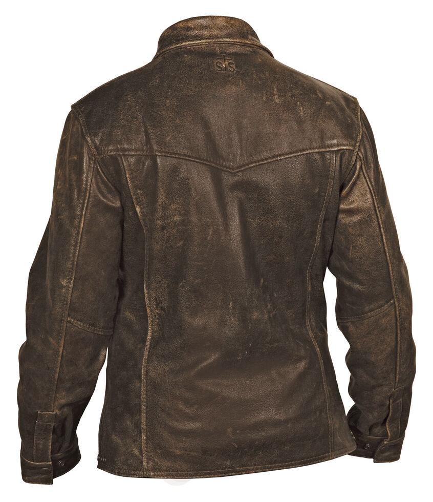 STS Ranchwear Women's Rifleman Brown Leather Jacket - Plus, Brown, hi-res