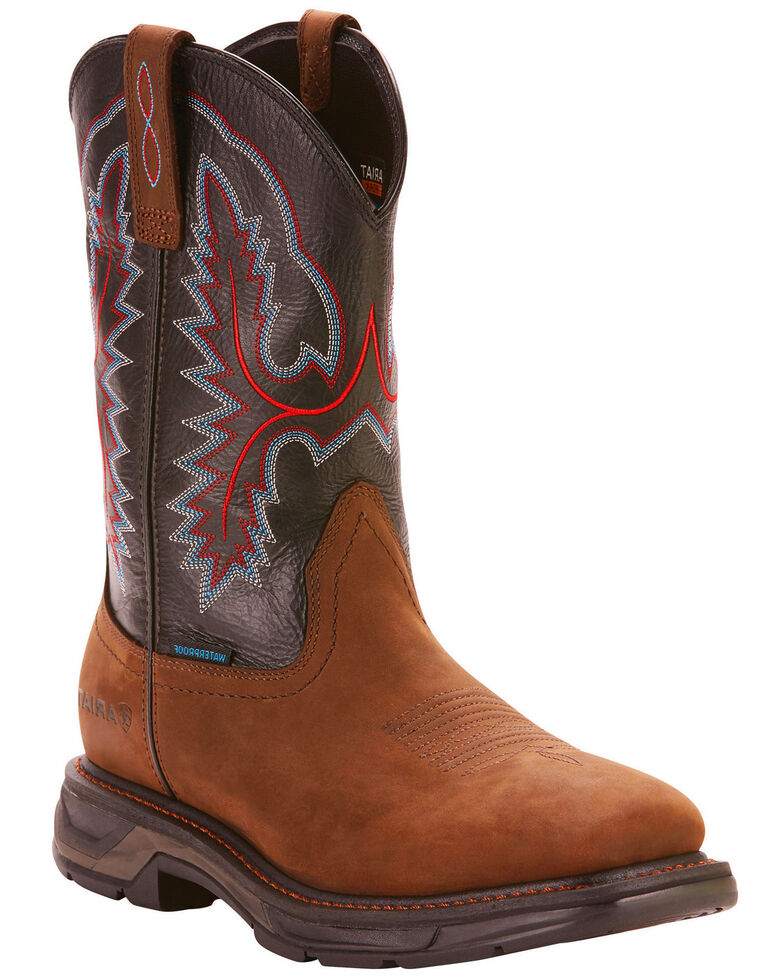 0d002340029 Ariat Men's Dark Brown Workhog XT H20 Boots - Wide Square Toe