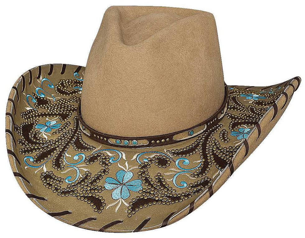 Bullhide Always On My Mind Wool Cowgirl Hat, Camel, hi-res
