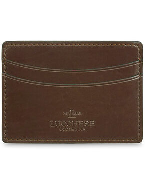 Lucchese Men's Sienna Leather Credit Card Case, Brown, hi-res
