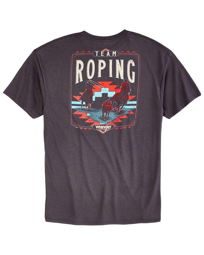 Wrangler Men's Charcoal Team Roping Graphic T-Shirt , Charcoal, hi-res