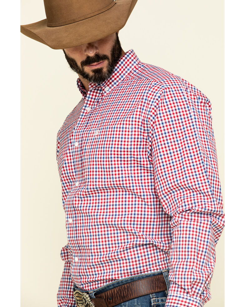 Ariat Men's Tolland Check Plaid Long Sleeve Western Shirt - Big , Multi, hi-res
