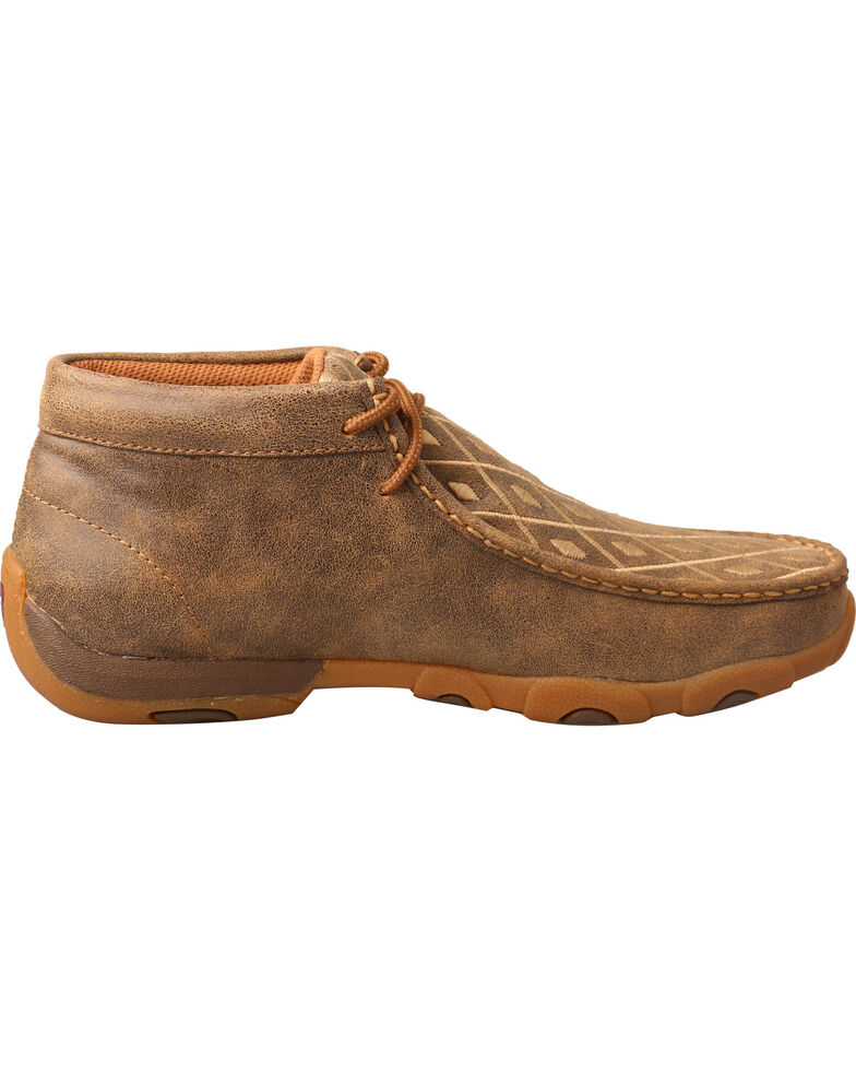Twisted X Women's Tan Diamond Driving Mocs - Moc Toe, Tan, hi-res