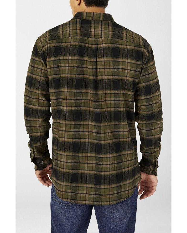 Dickies Men's Military Green Plaid Relaxed Flex Flannel Work Shirt - Big , Green, hi-res