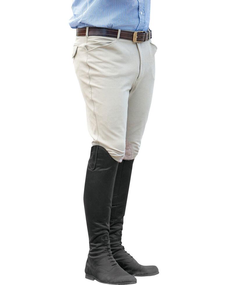 Ovation Men's Euroweave Knee Patch Breeches, Tan, hi-res