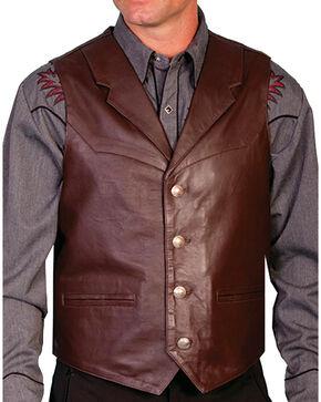 Scully Men's Lambskin Lapel Vest - Big, Brown, hi-res
