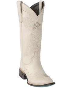 Lane Women's Ivory Western Wedding Boots - Square Toe, Ivory, hi-res