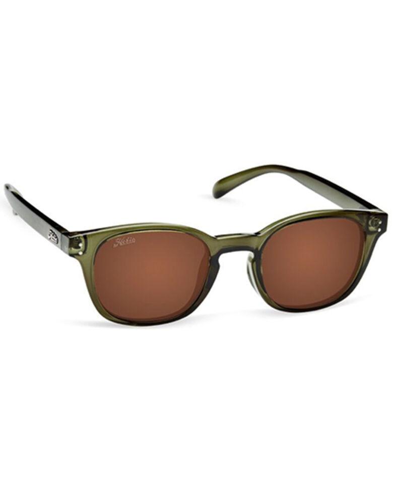 Hobie Wrights Shiny Crystal Olive & Copper Polarized Sunglasses , Olive, hi-res
