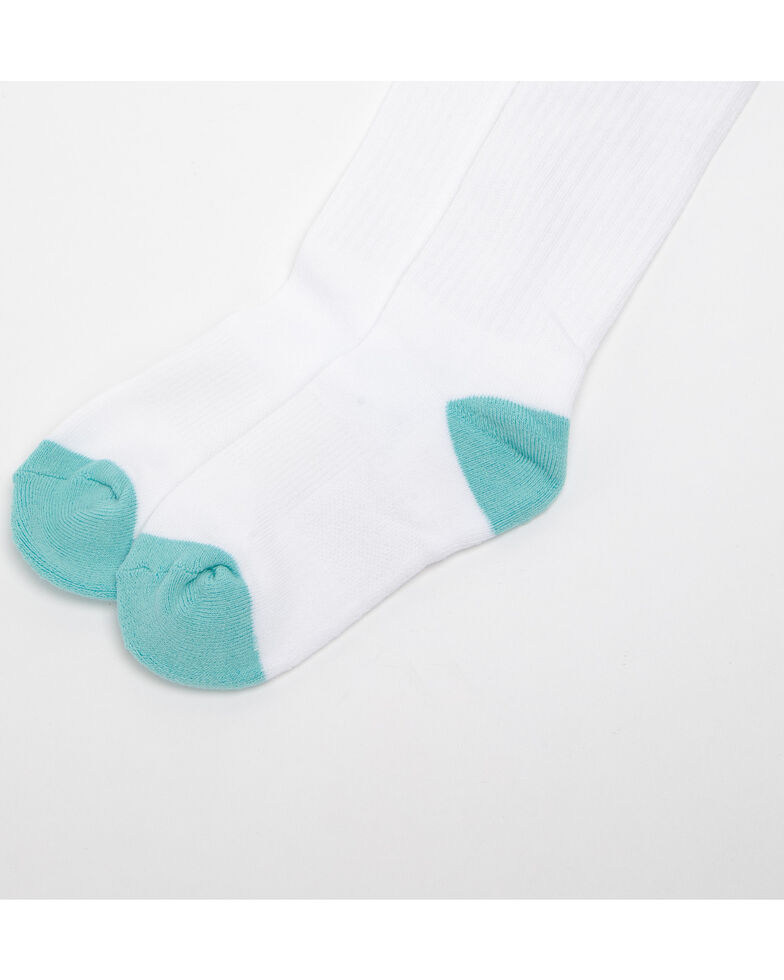 Shyanne Girls' 3 Pack Basic Knee High Socks, Turquoise, hi-res