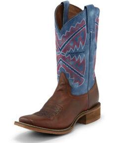 Nocona Women's Naida Blue Western Boots - Square Toe, Blue, hi-res