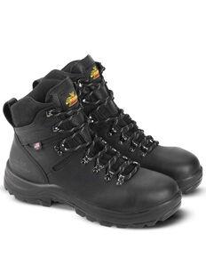 Thorogood Men's American Union Waterproof Work Boots - Steel Toe, Black, hi-res