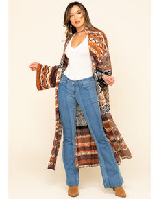 Free People Women's Landmark Cardigan , Multi, hi-res