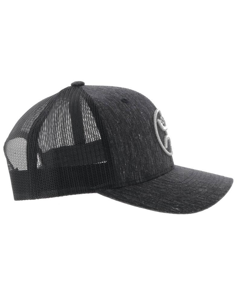 HOOey Men's Black O Classic Patch Mesh Cap , Black, hi-res