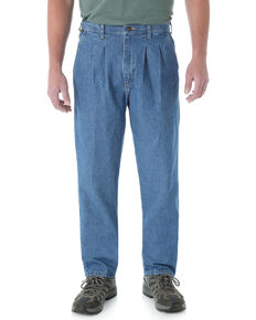 Wrangler Men's Rugged Wear Relaxed Angler Work Jeans - Big , Indigo, hi-res