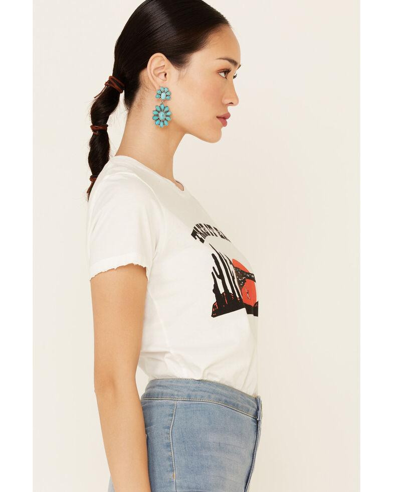 Bandit Brand Women's Take It Easy Roadrunner Graphic Short Sleeve Tee  , White, hi-res