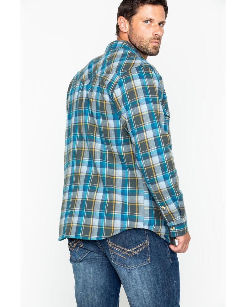 Cody James Men's Buckhorn Bonded Flannel Long Sleeve Western Shirt Jacket , Grey, hi-res