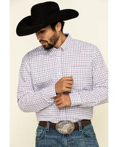 Cody James Core Men's Patriot Small Plaid Long Sleeve Western Shirt - Tall , White, hi-res