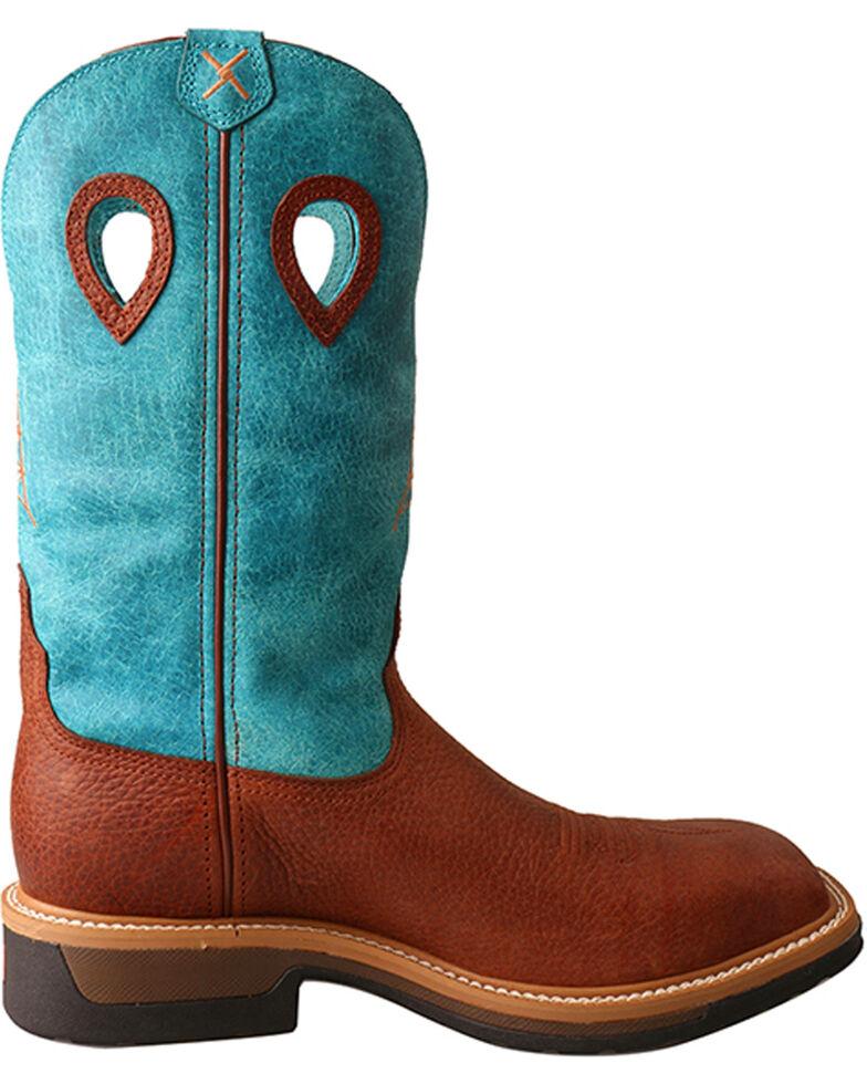 Twisted X Men's Brown Lite Cowboy Work Boots - Steel Toe , Brown, hi-res