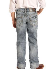 Rock & Roll Denim Boys' Reflex Light Vintage Boot Jeans , Blue, hi-res