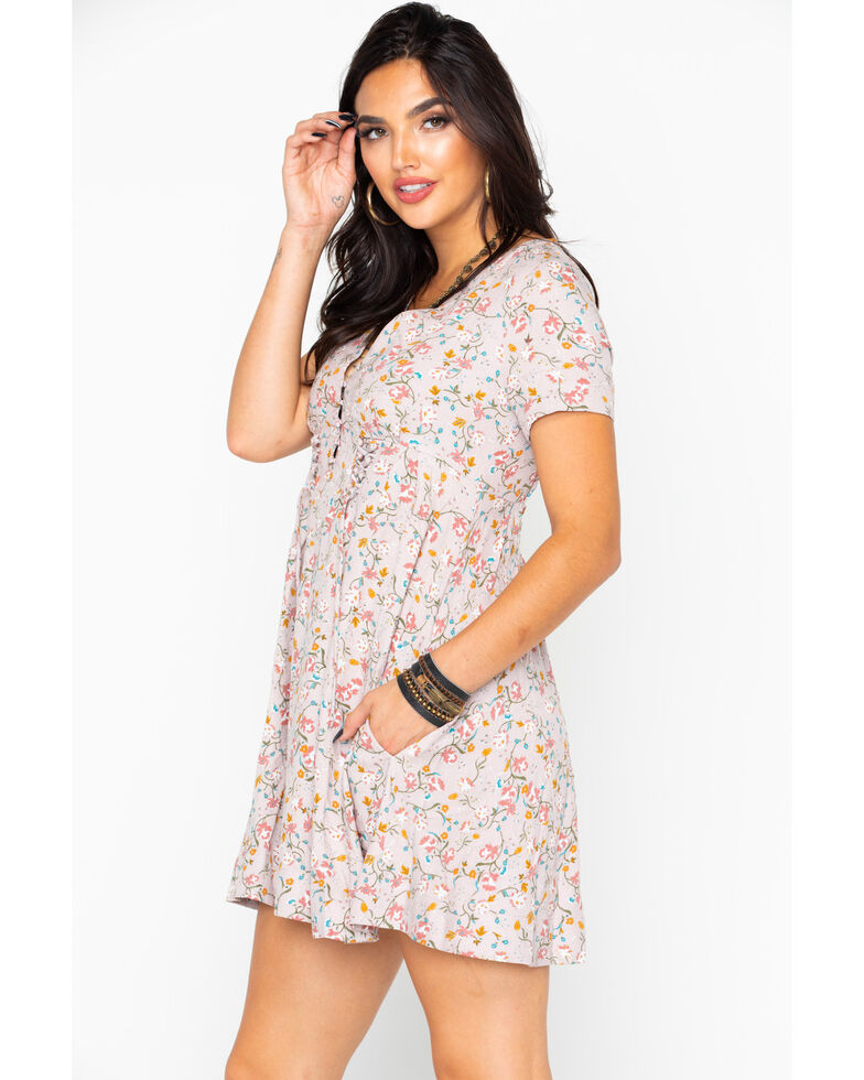 Idyllwind Women's Meadow Mini Dress, Blush, hi-res