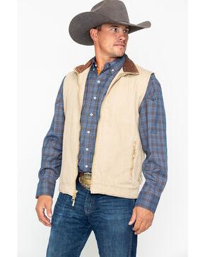Resistol Men's Open Range Canvas Vest , Beige/khaki, hi-res