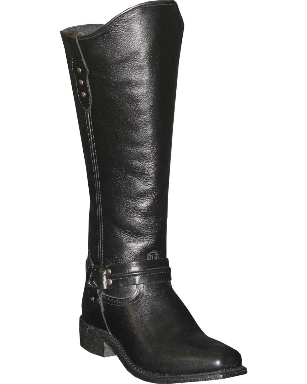 Abilene Women's Black Equestrian Wellington Boots - Square Toe  , Black, hi-res