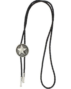 Cody James Men's Sheriff Star  Bolo Tie, Silver, hi-res