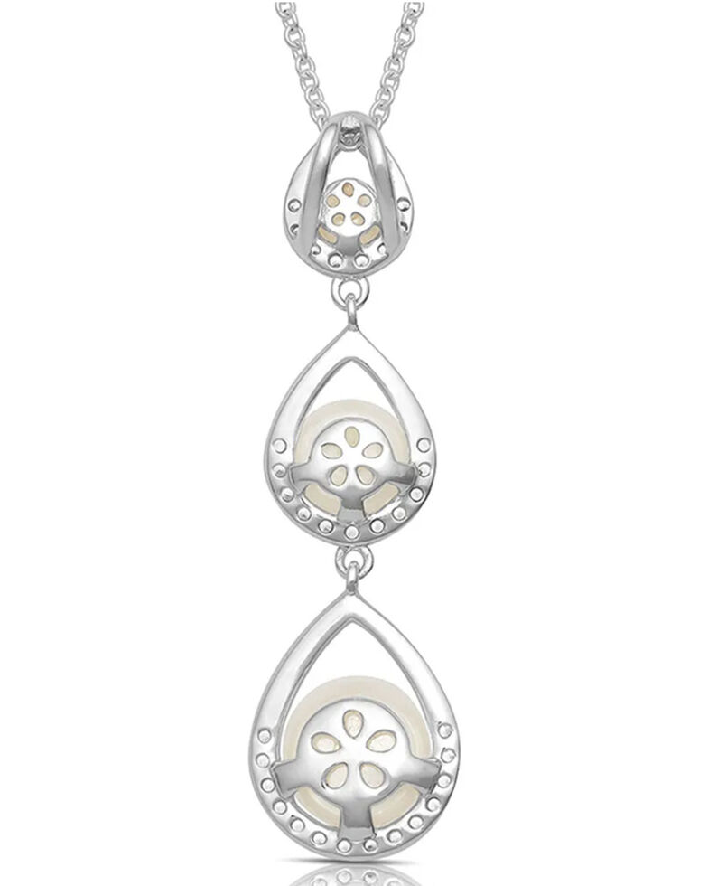 Montana Silversmiths Women's Perfect Pearl Teardrop Necklace, Silver, hi-res