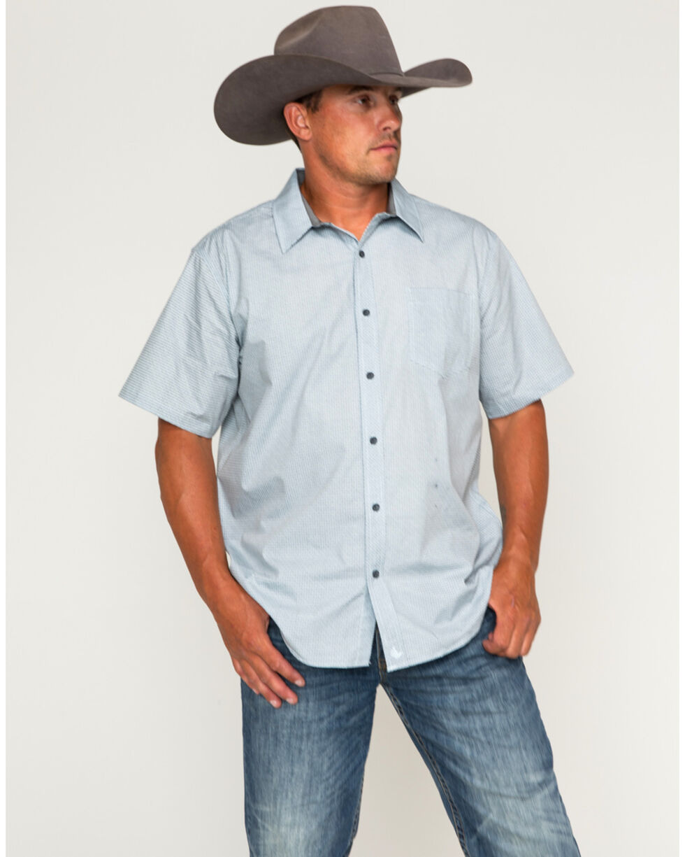 Cody James Men's Patterned Short Sleeve Shirt, Light/pastel Blue, hi-res