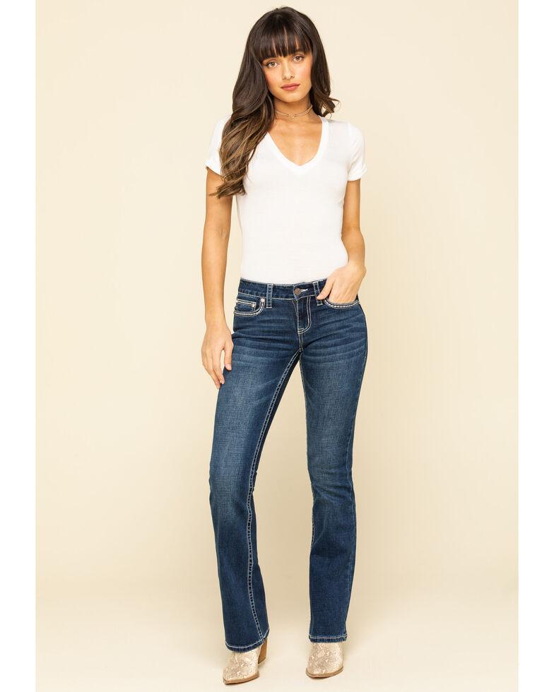 Shyanne Women's Americana Blowout Bootcut Jeans, Blue, hi-res