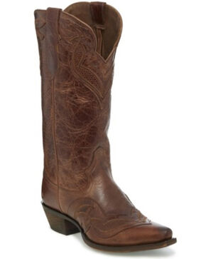 Justin Women's Nadya Western Boots - Snip Toe, Brown, hi-res