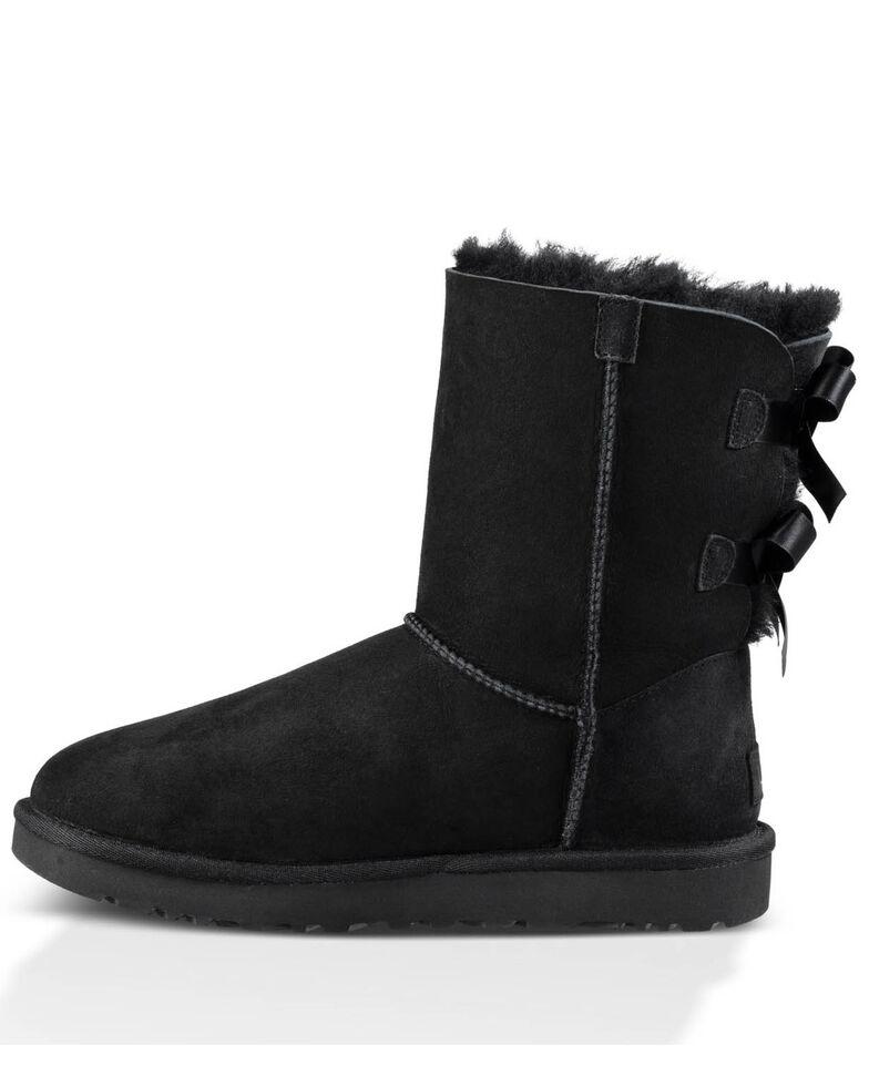 UGG Women's Bailey Bow II Slipper Boots - Round Toe, Black, hi-res